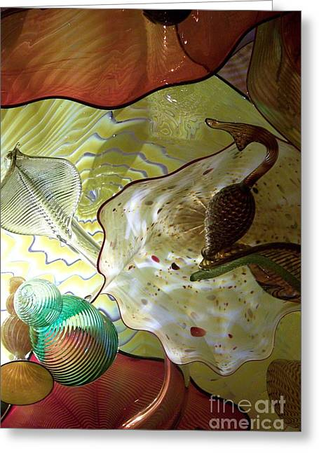 Subtle Colors Greeting Cards - Subtle Colors In Glass Greeting Card by Eunice Miller