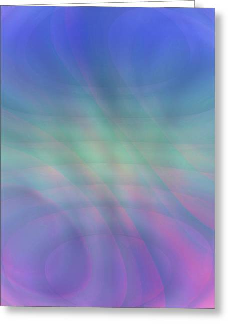 Subtle Colors Greeting Cards - Subtle Swirls Greeting Card by Kellice Swaggerty