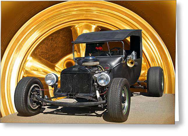 Subtle T Rat Rod Greeting Card by Dave Koontz