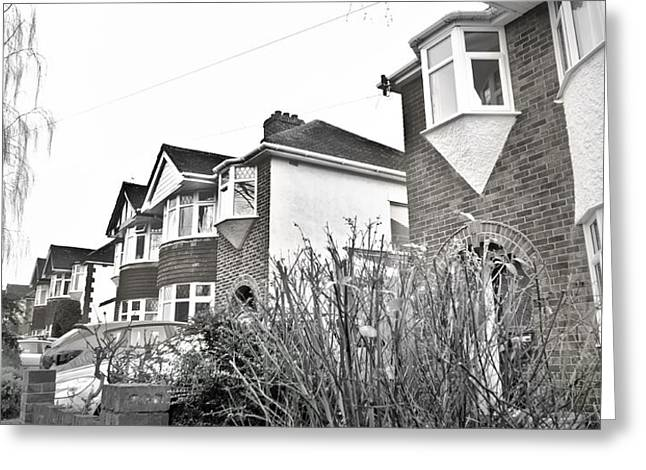 30s Greeting Cards - Suburban houses Greeting Card by Tom Gowanlock