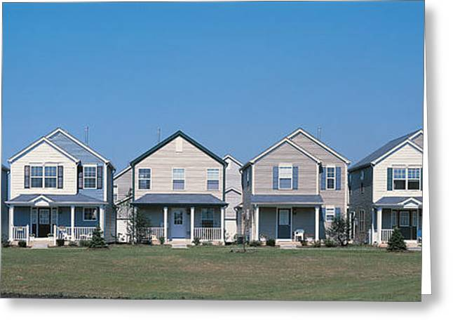 Development Greeting Cards - Suburban Housing Development Joliet Il Greeting Card by Panoramic Images