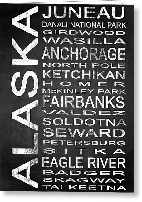 Subway Alaska State 1 Greeting Card by Melissa Smith