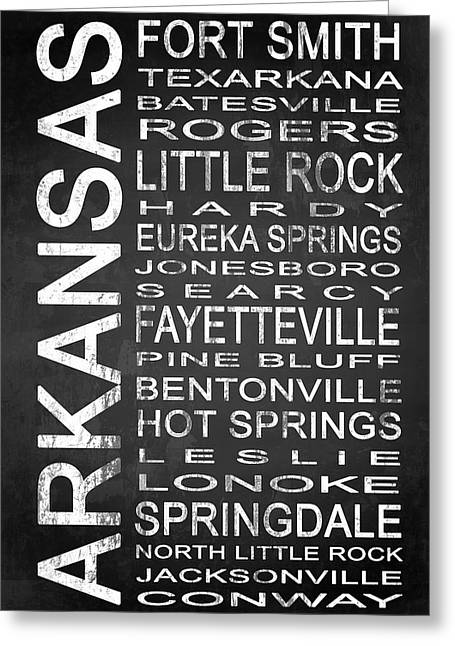 Subway Arkansas State 1 Greeting Card by Melissa Smith