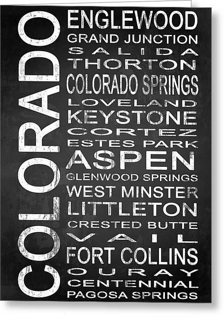 Fort Collins Mixed Media Greeting Cards - SUBWAY Colorado State 2 Greeting Card by Melissa Smith