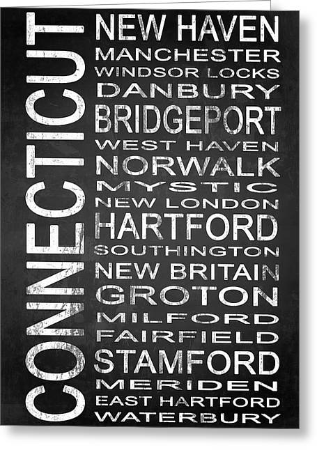 New Britain Greeting Cards - SUBWAY Connecticut State 1 Greeting Card by Melissa Smith