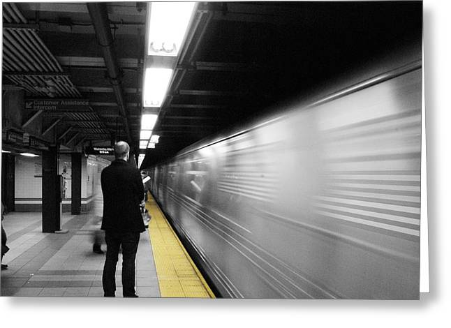 Subway Greeting Card by Enrique  Coloma