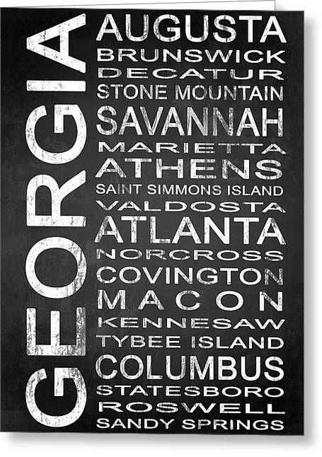 Subway Georgia State 1 Greeting Card by Melissa Smith