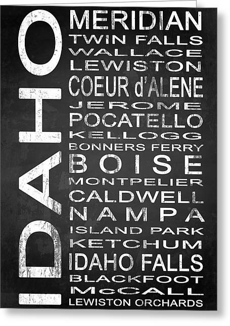 Modern Greeting Cards - SUBWAY Idaho State 1 Greeting Card by Melissa Smith