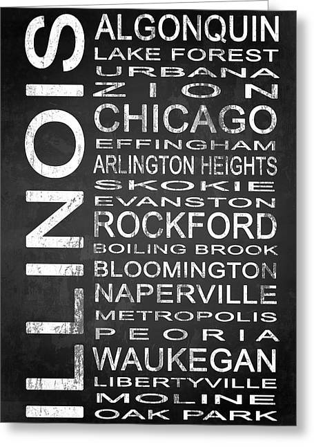 Arlington Mixed Media Greeting Cards - SUBWAY Illinois State 1 Greeting Card by Melissa Smith