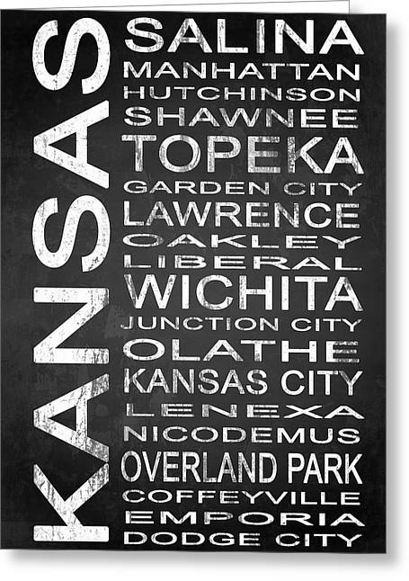Liberal Greeting Cards - SUBWAY Kansas State 1 Greeting Card by Melissa Smith