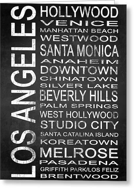 California Beach Mixed Media Greeting Cards - SUBWAY Los Angeles 1 Greeting Card by Melissa Smith