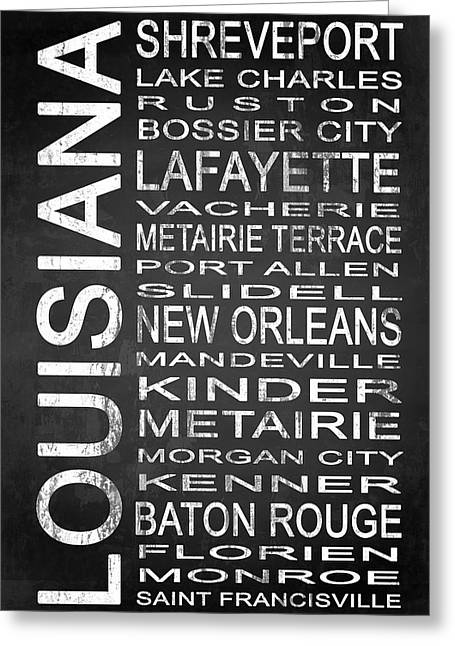 Ruston Greeting Cards - SUBWAY Louisiana State 1 Greeting Card by Melissa Smith