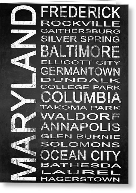 Subway Maryland State 1 Greeting Card by Melissa Smith