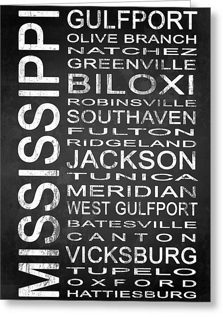 Subway Mississippi State 1 Greeting Card by Melissa Smith