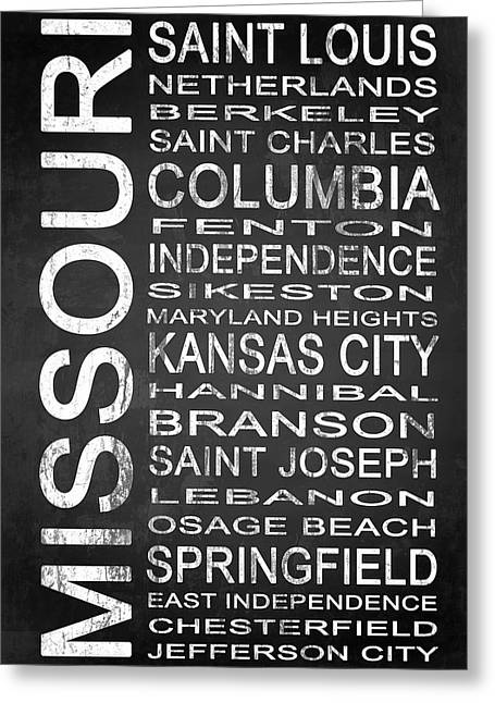 Kansas City Mixed Media Greeting Cards - SUBWAY Missouri State 1 Greeting Card by Melissa Smith