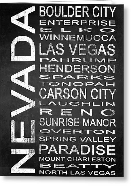 Enterprise Mixed Media Greeting Cards - SUBWAY Nevada State 1 Greeting Card by Melissa Smith