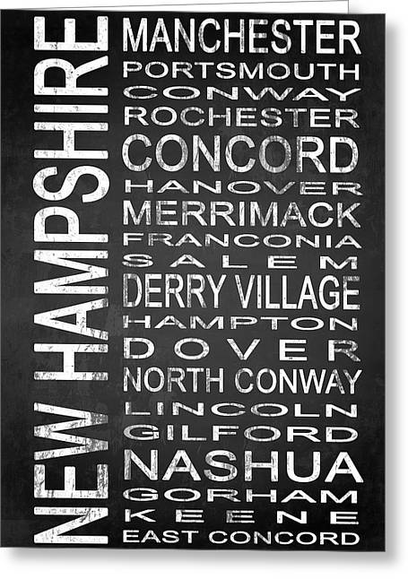 Concord Greeting Cards - SUBWAY New Hampshire State 1 Greeting Card by Melissa Smith
