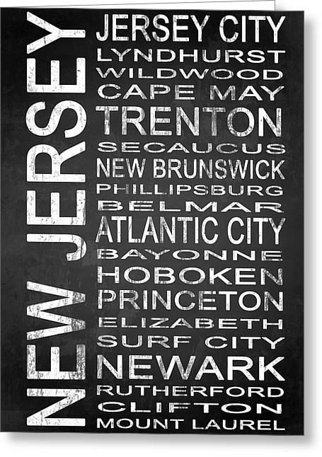 Recently Sold -  - Surf City Greeting Cards - SUBWAY New Jersey State 1 Greeting Card by Melissa Smith