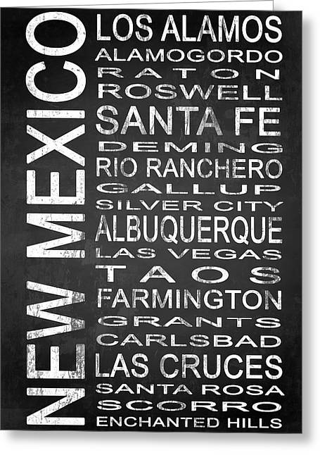 Las Cruces New Mexico Greeting Cards - SUBWAY New Mexico State 1 Greeting Card by Melissa Smith