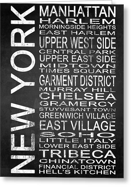 Town Mixed Media Greeting Cards - Subway New York 2 Greeting Card by Melissa Smith