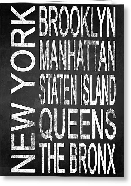 The Bronx Greeting Cards - Subway New York 4 Greeting Card by Melissa Smith