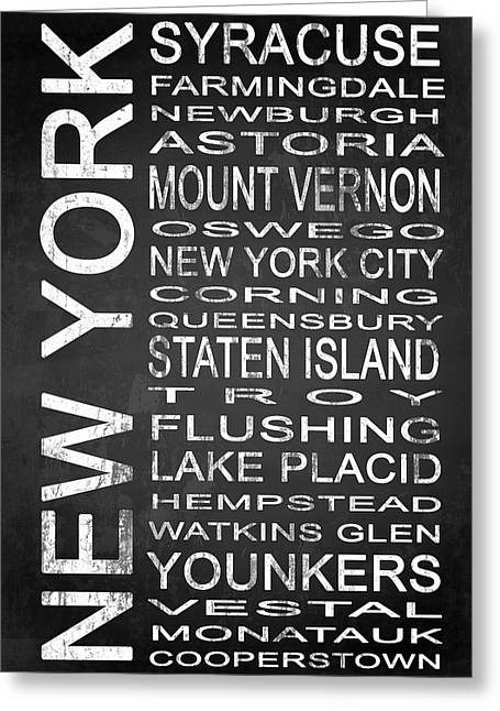 Vestal Greeting Cards - SUBWAY New York State 2 Greeting Card by Melissa Smith