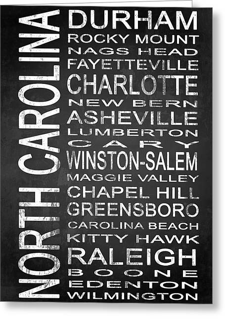 Charlotte Mixed Media Greeting Cards - SUBWAY North Carolina State 1 Greeting Card by Melissa Smith
