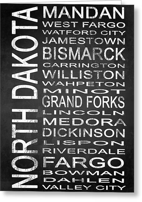 West Fork Greeting Cards - SUBWAY North Dakota State 1 Greeting Card by Melissa Smith