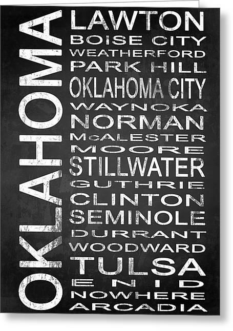Arcadia Mixed Media Greeting Cards - SUBWAY Oklahoma State 1 Greeting Card by Melissa Smith