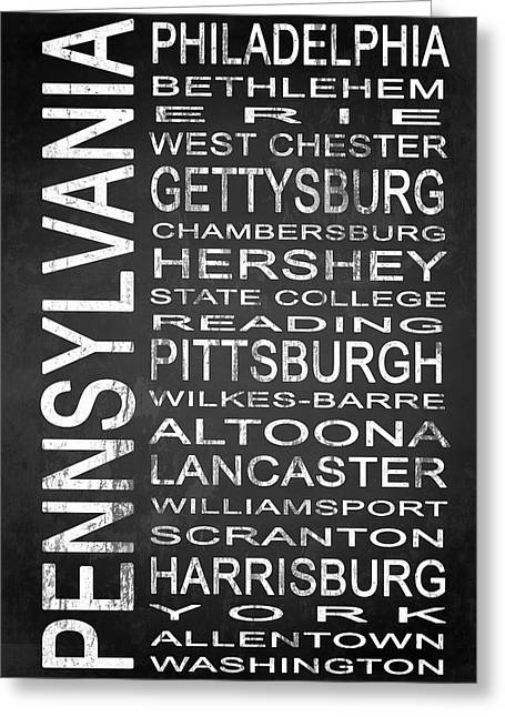 Williamsport Greeting Cards - SUBWAY Pennsylvania State 1 Greeting Card by Melissa Smith