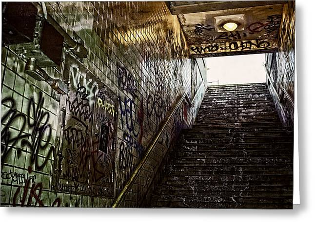Basement Greeting Cards - Subway Portal - New York Greeting Card by Daniel Hagerman