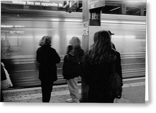 Black Mass Greeting Cards - Subway, Station, Nyc, New York City Greeting Card by Panoramic Images