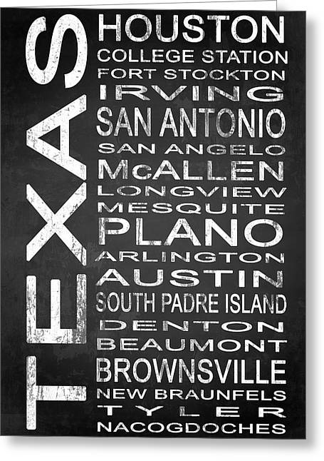 Stockton Greeting Cards - SUBWAY Texas State 1 Greeting Card by Melissa Smith