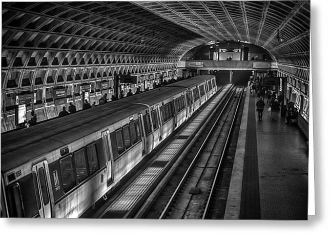 Lynn Palmer Greeting Cards - Subway Train Greeting Card by Lynn Palmer