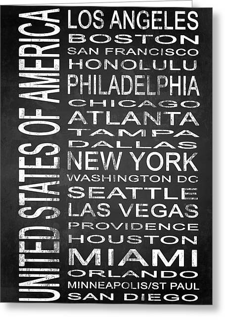 Las Vegas Mixed Media Greeting Cards - SUBWAY United States 1 Greeting Card by Melissa Smith
