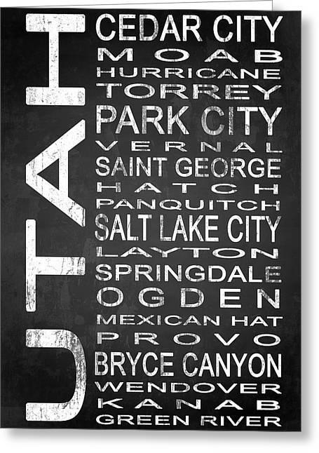 Urban Greeting Cards - SUBWAY Utah State 1 Greeting Card by Melissa Smith