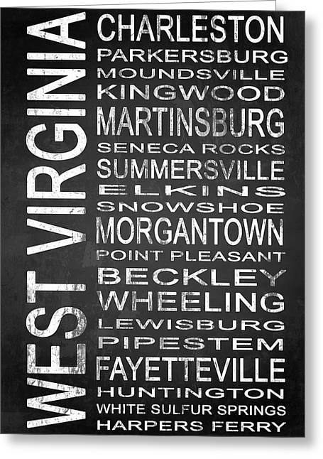 Subway West Virginia State 1 Greeting Card by Melissa Smith