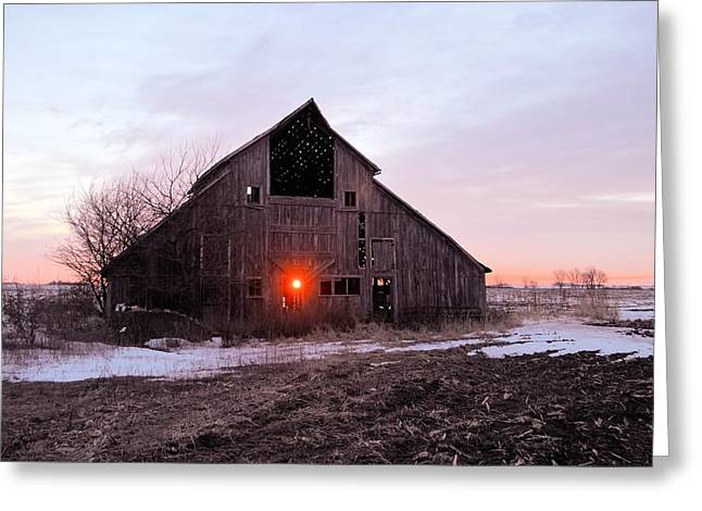 Barn Door Greeting Cards - Subzero Barn Greeting Card by Bonfire Photography