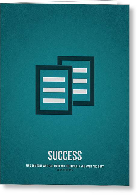 Money Quotes Greeting Cards - Success Greeting Card by Aged Pixel