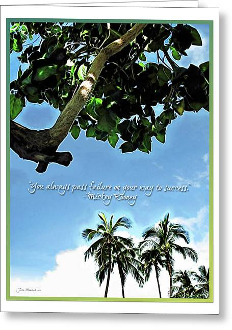 Minchak Greeting Cards - Success and Failure Botanical Inspiration Greeting Card by Joan  Minchak