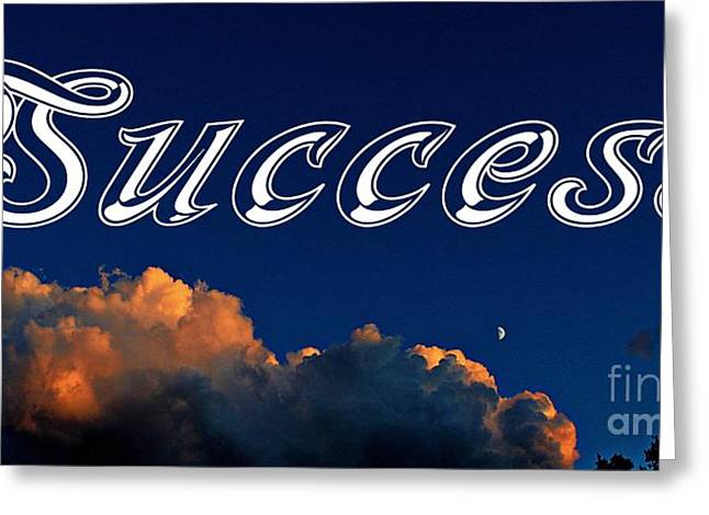 Do Something Greeting Cards - Success Greeting Card by Barbara Griffin
