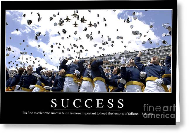 Success Inspirational Quote Greeting Card by Stocktrek Images