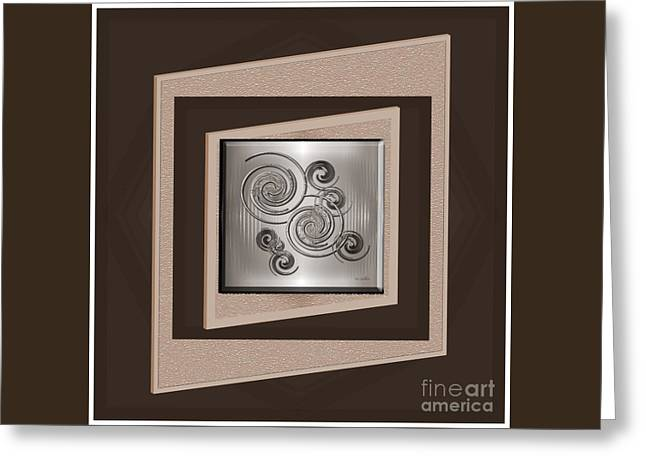 Beige Abstract Greeting Cards - Success Greeting Card by Iris Gelbart