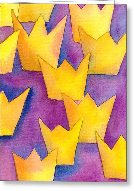 Royal Family s Paintings Greeting Cards - Succession Royal Greeting Card by Christina Rahm