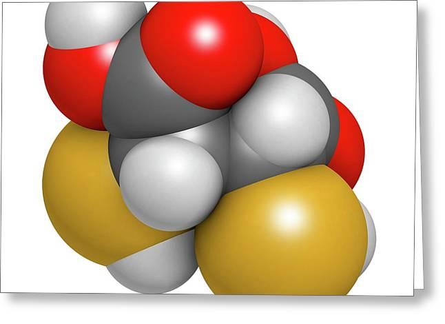Succimer Acid Molecule Greeting Card by Molekuul
