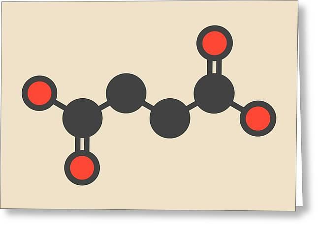 Succinic Acid Molecule Greeting Card by Molekuul