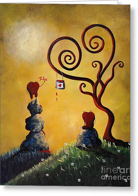 Floating Girl Greeting Cards - Such A Romantic by Shawna Erback Greeting Card by Shawna Erback