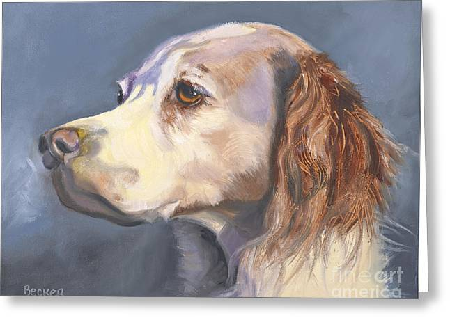 Spaniel Drawings Greeting Cards - Such a Spaniel Greeting Card by Susan A Becker