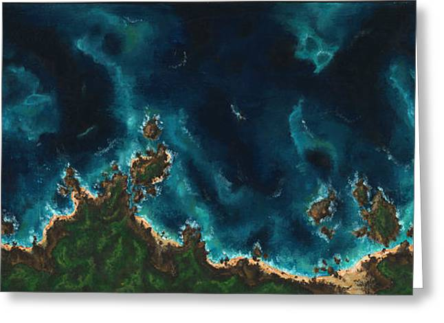 Abstract Beach Landscape Greeting Cards - Such Great Heights Greeting Card by Logan Hoyt Davis