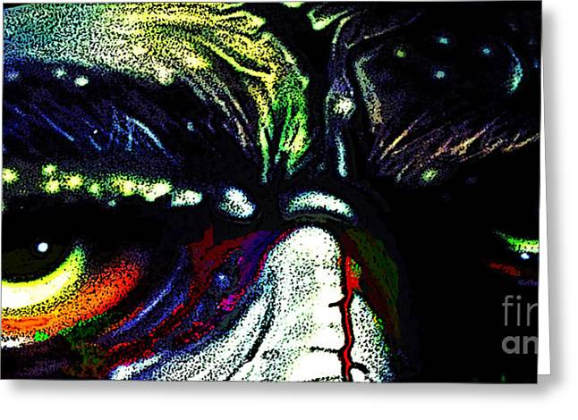 Caron Greeting Cards - Such Zombie Eyes Greeting Card by Frankie  Caron